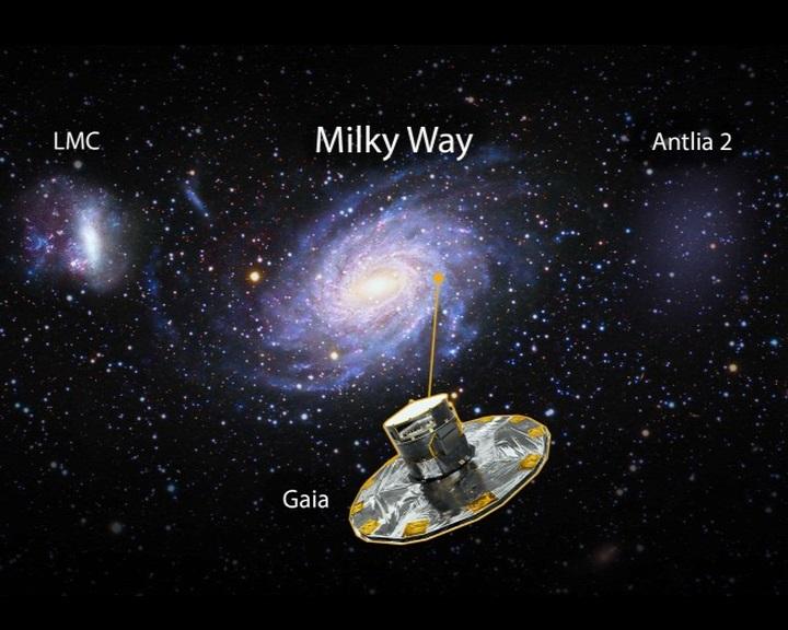 Hatalmas szellemgalaxist észlelt a Gaia a Tejútrendszer peremén