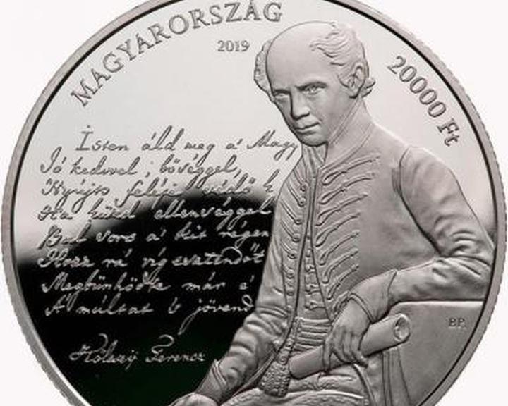 Emlékérme a Himnusz megzenésítésének 175. évfordulójára