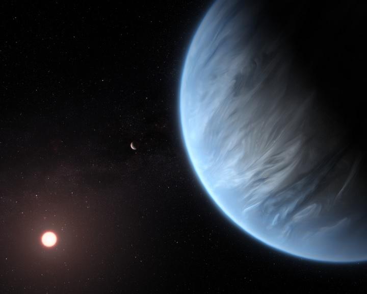 Lakhatósági zónában lévő exobolygón talált vízgőzt a Hubble