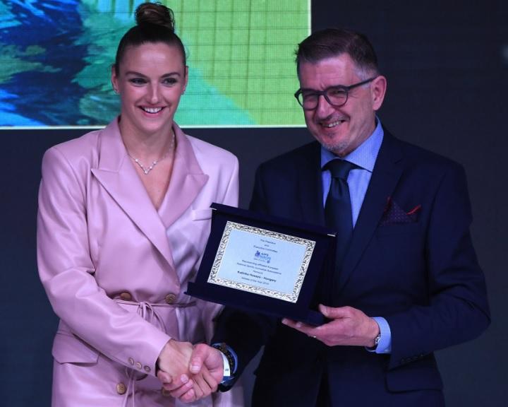 AIPS-gála - Hosszú Katinka átvette Az év európai női sportolója díjat