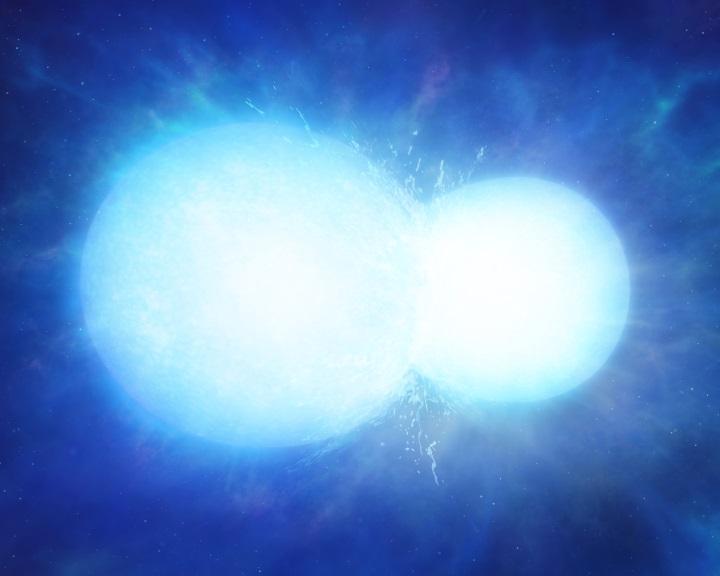 Hatalmas űrhóembert képez a két összeolvadó fehér törpe