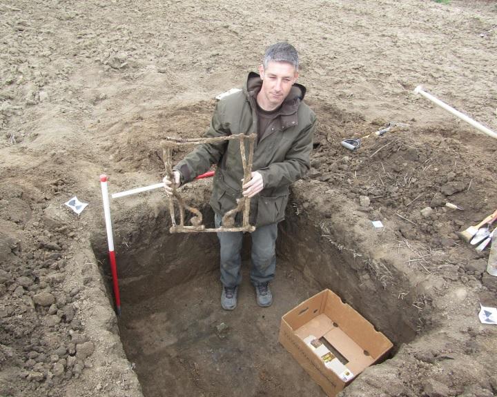 Ritka, római kori összecsukható vasszék került elő Baranyában