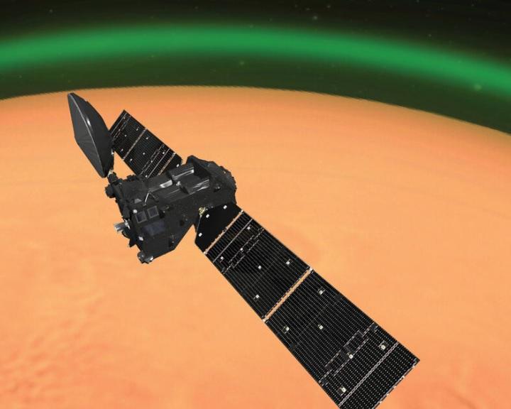 Zöld fényt észleltek a Mars légkörében