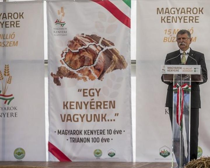 Összeöntötték a Magyarok Kenyere programban felajánlott búzát Szarvason