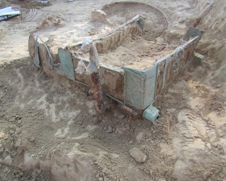 Római kori kocsisír került elő a föld alól Baranyában