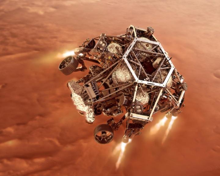 Sikeresen landolt a NASA Perseverance marsjárója a vörös bolygón