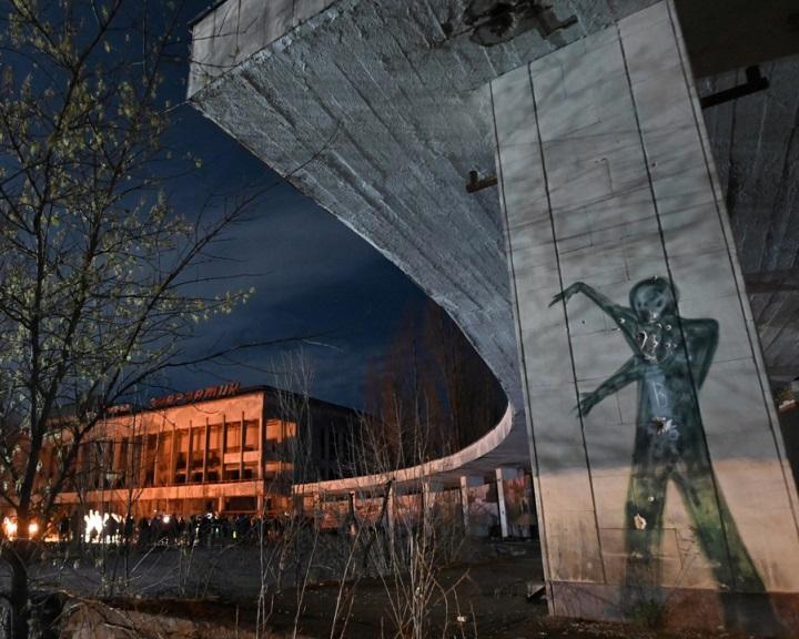 Pripjaty egykori lakói a szellemvárosban emlékeztek meg a csernobili katasztrófa évfordulójáról