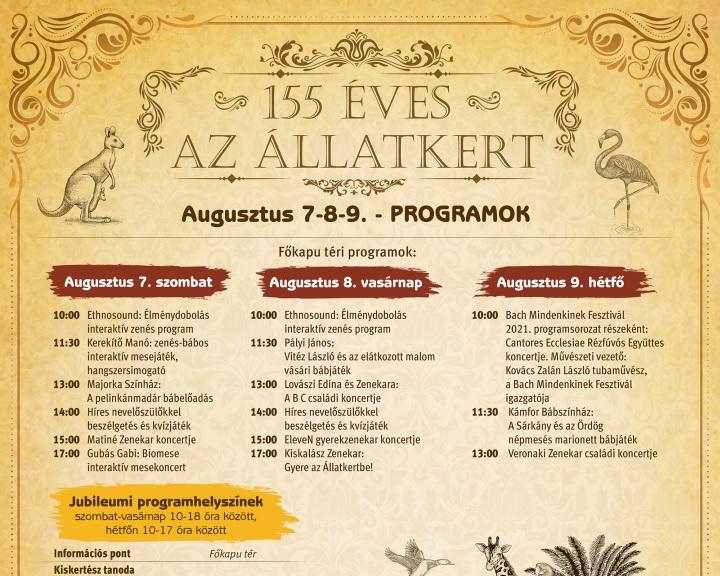 Változatos programokkal készül a budapesti állatkert fennállásának 155. évfordulójára