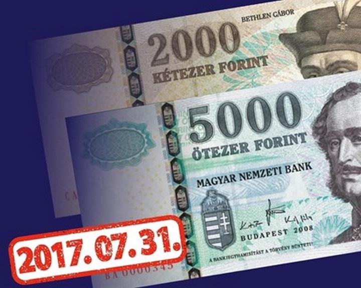 Ma lehet utoljára fizetni a régi 2000 és 5000 forintosokkal