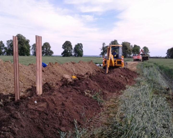 Út- és közműépítés a komlói Határ úton