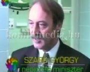 Az új műtőblokk átadása (1996.okt.30.) 2 sebészeti és 2 nőgyógyászati műtő (Szabó György,