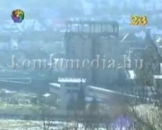 Ledöntötték, felrobbantották a fűtőerőmű egyik víztartályát - a robbantás