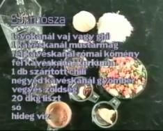 Recept - Szamósza - indiai ételkülönlegesség