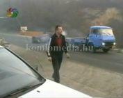 Közúti baleset az Anna-aknai kanyarban