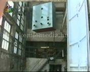 Megérkeztek a gázmotorok a Komlói Fűtőerőműbe
