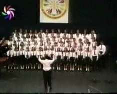 Az 1995-ös kórusfesztiválról bejátszások