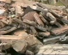 Béta bányán épület robbantás