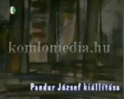 Pandúr József kiállítása a színházban - etűd