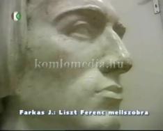 Köztéri szobraink - Farkas J. - Liszt Ferenc mellszobra