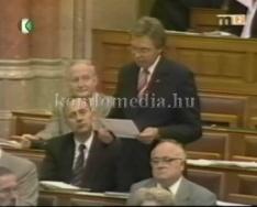 Parlamenti felszólalás a bánya rekultiváció ügyében (Kékes Ferenc, Páva Zoltán, Szalay Gáb