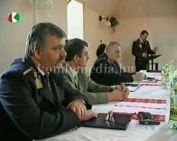 komlói rendőrkapitány értékeli éves munkájukat (Kovács László)