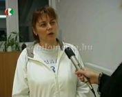Kondicionáló asszonytorna a Sportközpontban (Vámos Ágnes)