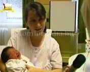 Az év első komlói kisbabája(Pintér Elvíra, Bettina)