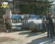 Megérkeztek az új gázmotorok a Komlói Fűtőerőműbe (Vida János, Páva Zoltán)