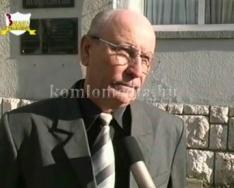 A Komlói Nyugdíjas Egyesület jubileumi közgyűlése (Dr. Iván László, Béla Kovács)