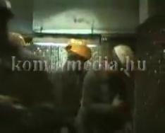 Borbála zászló avatás a komlói bányász emlékhelynél (Kispál László, Jégl Zoltán)