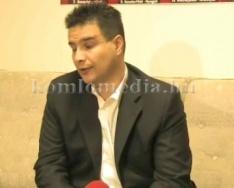 Mesterházy Attila sajtótájékoztatója Komlón
