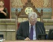 Parlamenti felszólalás a bányajáradékok ügyében (Polics József)