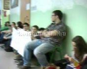 Diákok tüntettek a felsőoktatási rendszer átszervezése ellen