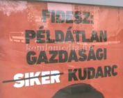 Sajtótájékoztató az MSZP-s plakátpropagandáról (Dr. Hoppál Péter, Polics József)