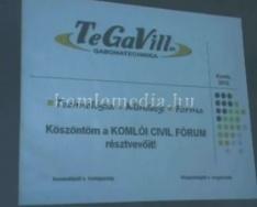 Komlói Civil Fórum a városházán (Áman Mihály, Jégl Zoltán)