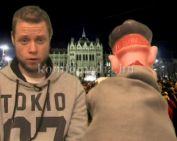 Csaba és Én - A Liga Szakszervezetek tüntetéséről