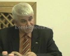 Polgármester-jelöltek találkozója (Orendt Teréz, Polics József)