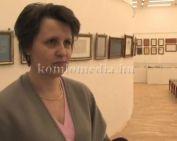 Kalligráfiai kiállítás a múzeumban (Steinerbrunner Győzőné)