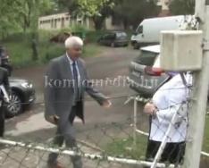 103 éves polgárát köszöntötte a város (Polics József, Szanyi Angéla, Kocsis József)