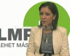 Az LMP terveiről beszélt a párt társelnöke (Szél Bernadett)