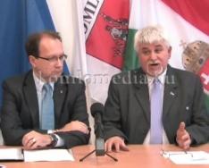 Sajtótájékoztató keretében értékelte a tavalyi évet a polgármester (Polics József)