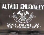 Átadták a megújult Altáró-emlékhelyet (Polics József, Jégl Zoltán)