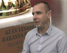 A megye legjobb amatőr edzője Czukor János