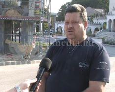 Zajlanak a felújítási munkák a Templom téren (Pálfi László)
