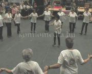 A szenior örömtánc-csoport fellépése az idei kolbásztöltő fesztiválon